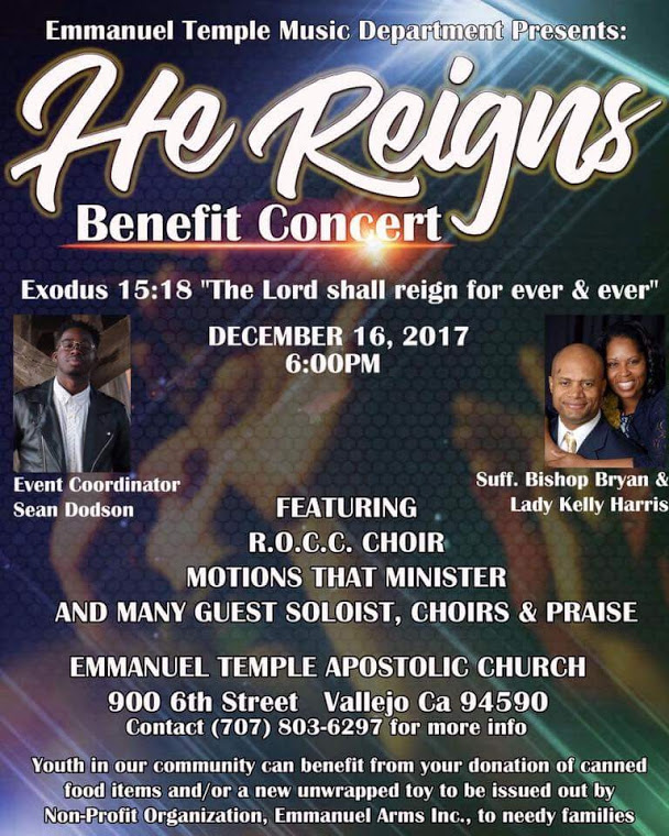 He Reigns Benefit Concert flyer